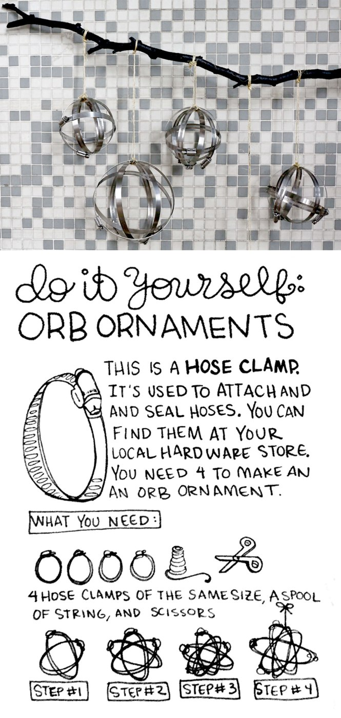 DIY Orb Onament / Crafted in Carhartt